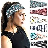 PLOVZ 6 Pack Women's Yoga Running Headbands Sports Workout Hair Bands (Set 10)