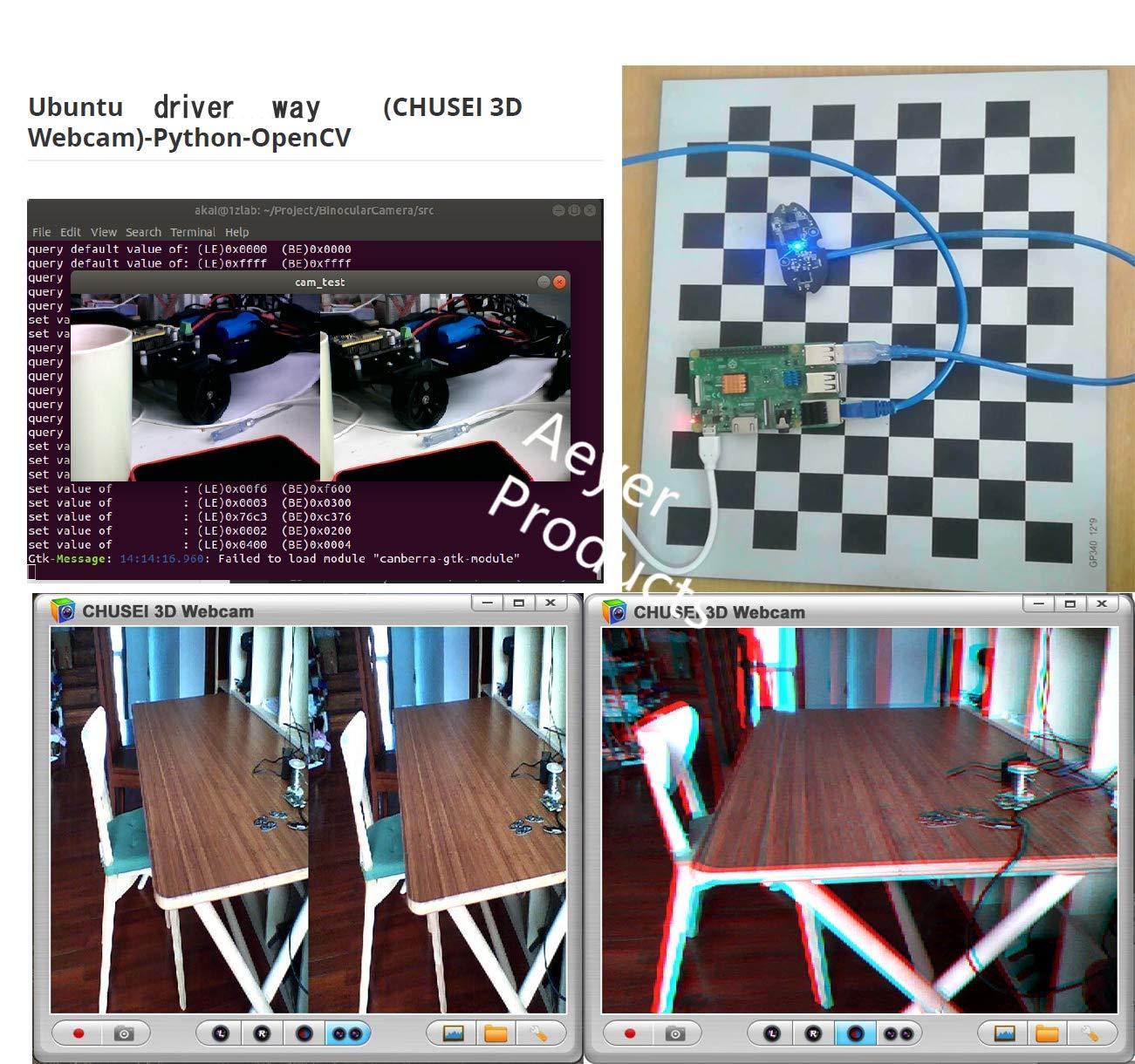 Amazon com: Aeyer 3D Binocular Camera Module RGB USB 2 0