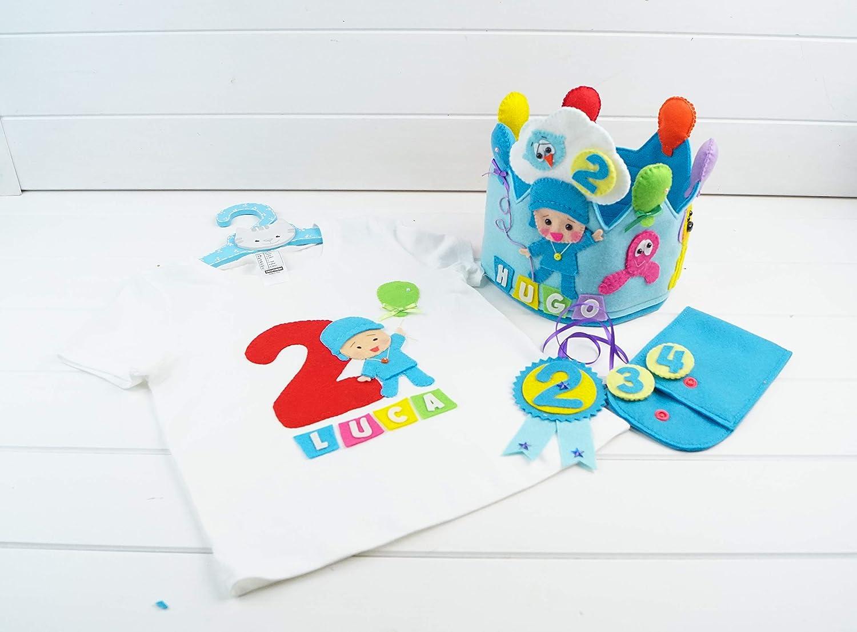 Pack Cumpleaños Pocoyó - Corona y Camiseta: Amazon.es: Handmade