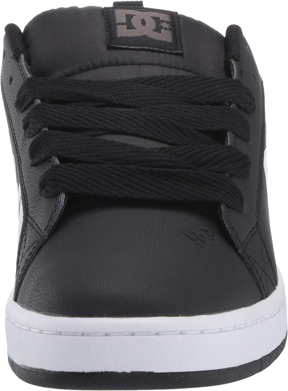 DC Shoes Court Graffik Se, Chaussures de Skateboard Homme White Black White Print