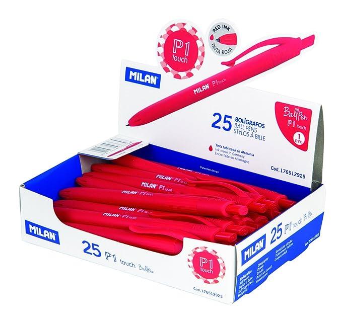 Milan 176512925 - Bolígrafo de punta redonda, 25 unidades: Amazon ...
