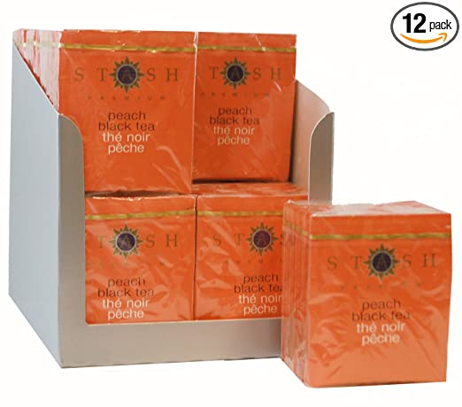 Stash Tea té negro melocotón, bolsas de té: Amazon.com ...