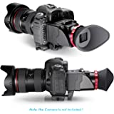 """Neewer® S6 Viseur Optique 3X Grossissement Pliable pour Canon 5DS, 7D, 7DII, 5DII, 5D3, D810, D800E, D750, D300S, D600, D610, Nikon D3200, D5300, D5200 et d'Autres 3 """"/3.2"""" Appareils Photo Reflex Numériques de l'Ecran LCD"""