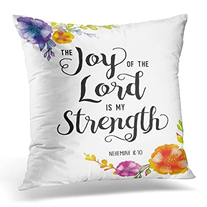 Amazoncom Upoos Throw Pillow Cover Colorful Religious Joy Of The