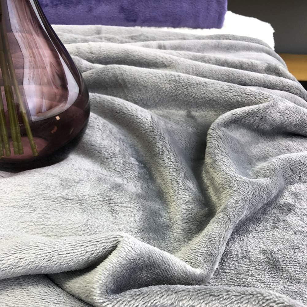 39x47inch Micropeluche Warm Fuzzy Couverture R/éversible Lightweight Canap/é Couverture De Lit De Couch Solid Color Toute La Saison-Rose 100x120cm Tres Doux Jeter La Couverture