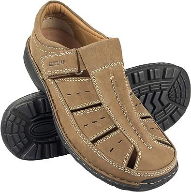 Zerimar Sandales pour Hommes Sandales de Trekking pour Hommes Sandales en Cuir pour Hommes Hommes Sandales d/ét/é Sandales Homme Randonn/ée