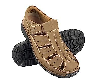 adbed7c26 Zerimar Sandales pour Hommes | Sandales de Trekking pour Hommes | Sandales  Homme Randonnée | Sandales en Cuir pour Hommes | Hommes Sandales d'été | ...