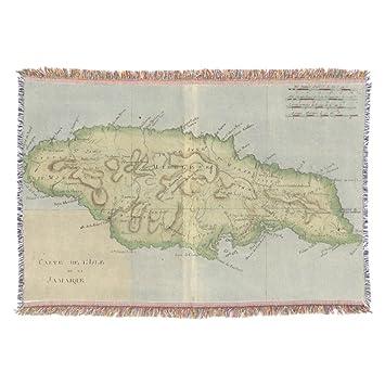 Amazoncom Zazzle Vintage Map Of Jamaica Throw Home Kitchen - Vintage map of jamaica