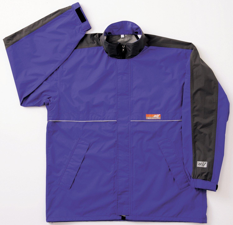 ワールドマーチ レインジャケット 全3色 全5サイズ ブルー M 防水透湿 収納袋付き 反射テープ付き [正規代理店品] B019RVPZJI Medium|ブルー ブルー Medium
