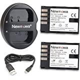 Newmowa BLF19 Battery (2 pack) and Dual USB Charger for Panasonic DMW-BLF19 and Panasonic DMC-GH3,DMC-GH4
