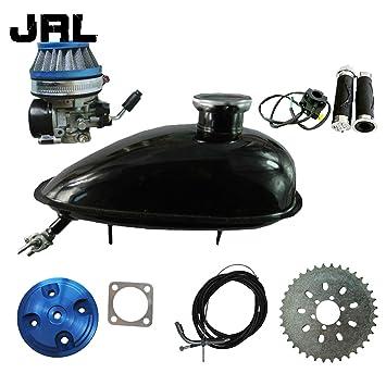 jrl CNC Cubierta de culata azul y depósito de aceite depósito para 66 cc 80 cc