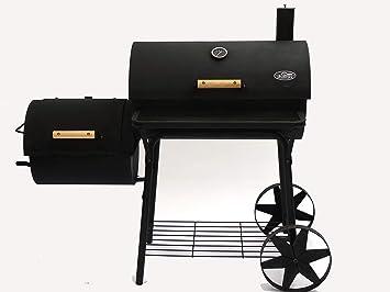 I&O BBQ Cajun Pro - Barbacoa ahumadora con forma de locomotora y parrilla de