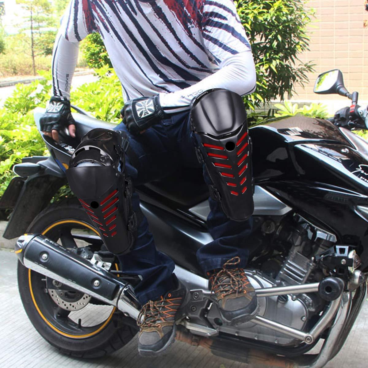 OZUAR Rodilleras de Motocross Protector de Rodilleras Ajustable para Motocross Bicicleta Skate Monopat/ín Rodillera Protecci/ón Adulto 39 /× 11 /× 11 cm