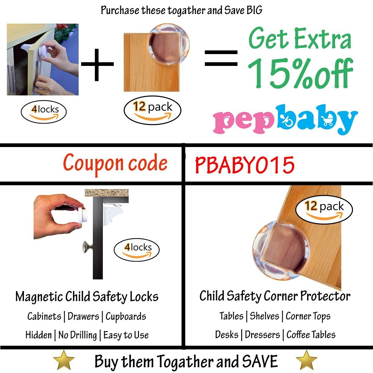 Child Safety For Cabinets Amazoncom Baby Safety Magnetic Child Cabinet Locks Baby Proof