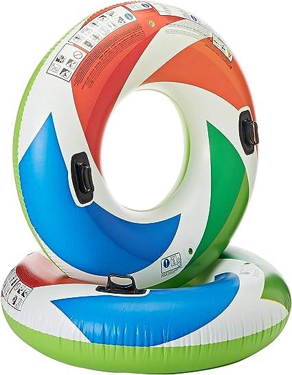 Amazon.com: Flotador de colores remolino Intex con asas (Set ...