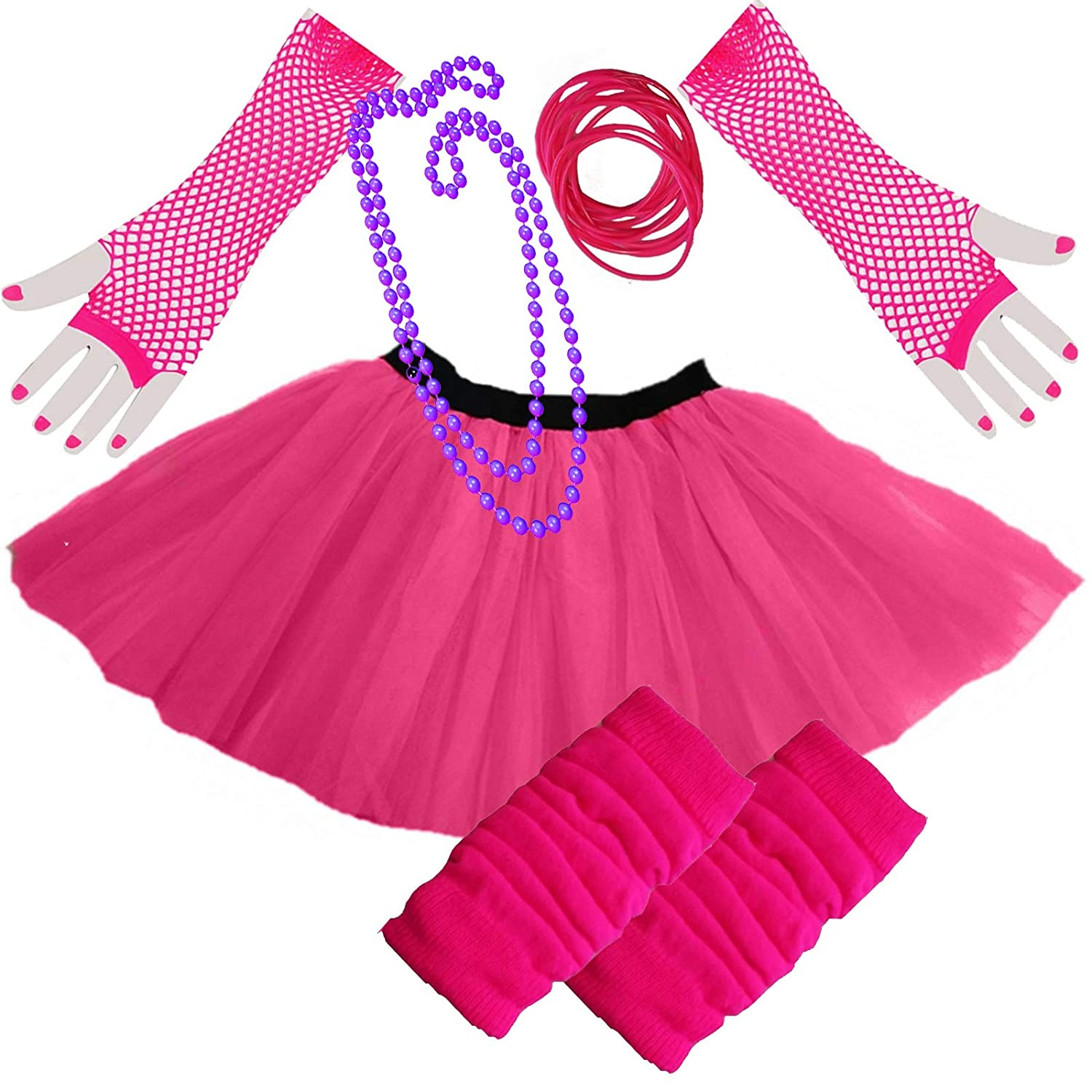 Ladies Size 8 to 18 Standard 80s Skirt with Accessories
