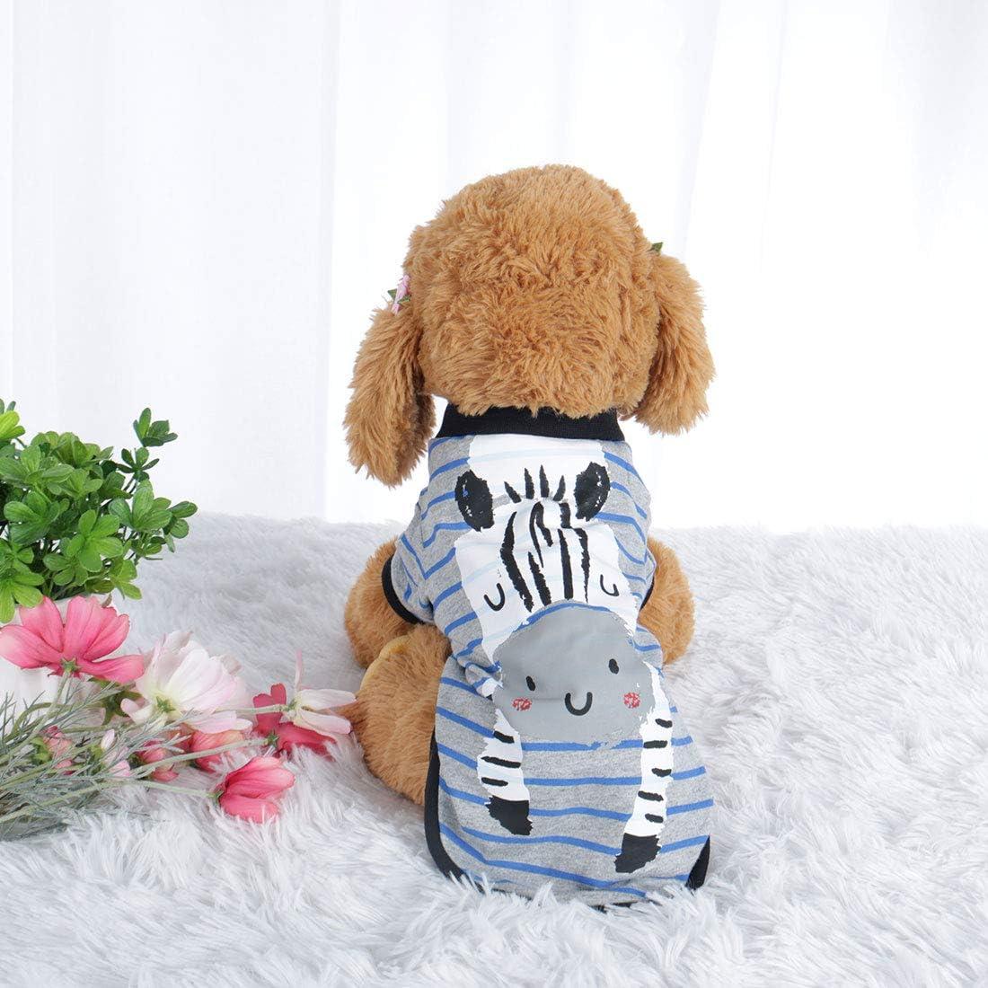 Welpen Oberteil Kost/üm Katze Weste Sourcing Map Hunde-T-Shirt Haustier Sweatshirt Kleidung Fr/ühling//Herbst Baumwolle