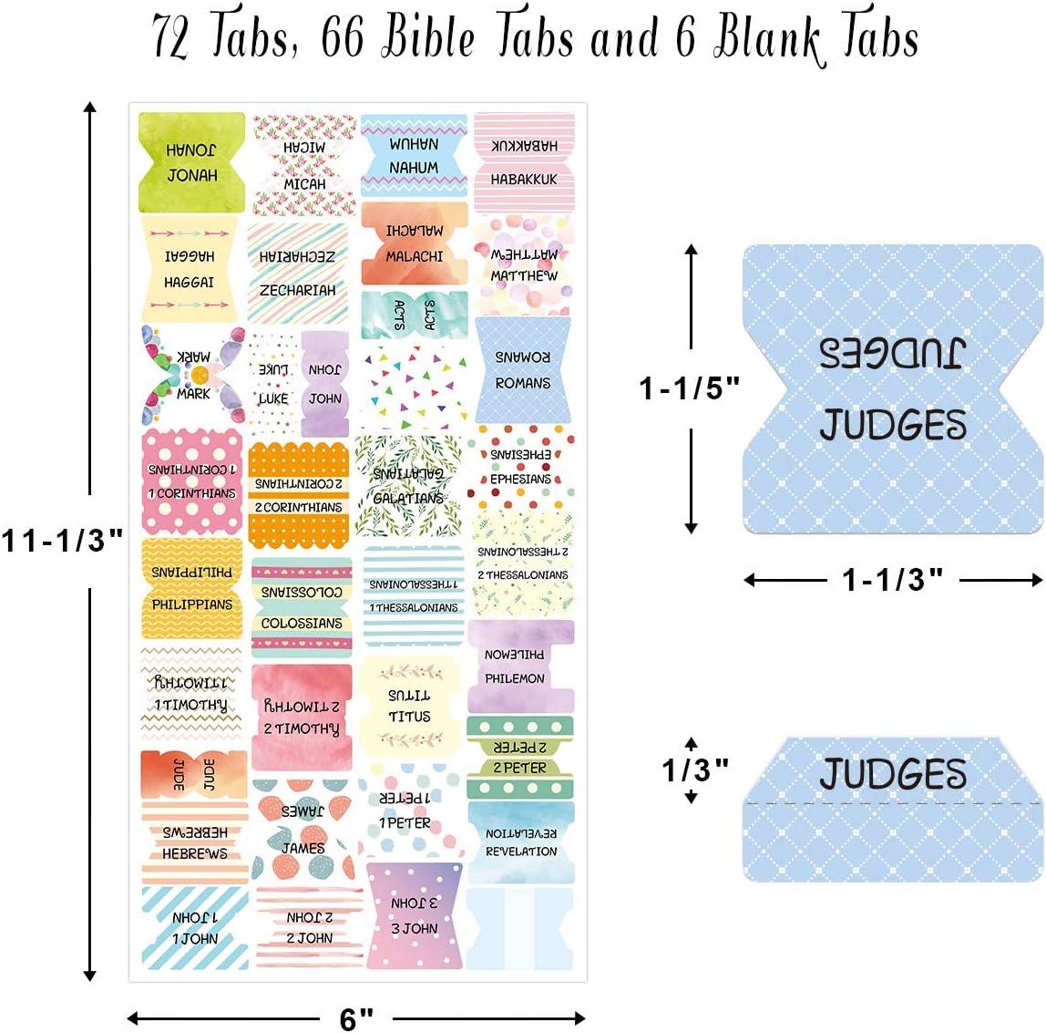 Pestañas Decorativas De La Biblia Pelar Y Pegar Pestañas De Indización Coloridas De La Biblia Para La Lectura De La Biblia De 72 Piezas Antiguo Y Nuevo Testamento Office Products