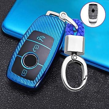 SEGADEN Silicone Cover Protector Case Holder Skin Jacket Compatible with MERCEDES BENZ 3 Button Smart Remote Key Fob CV4956 Black