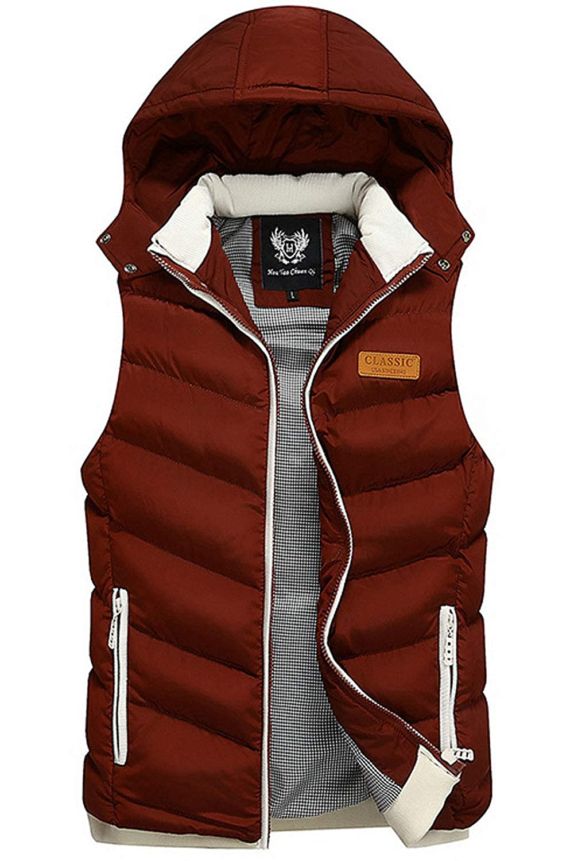 Zara Beez Men Stylish Sleeveless Slim Zipper Vest