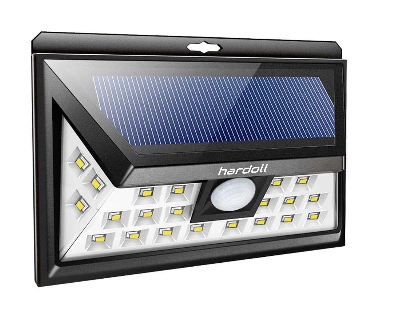 Hardoll 24 Led Solar Lights (Black)