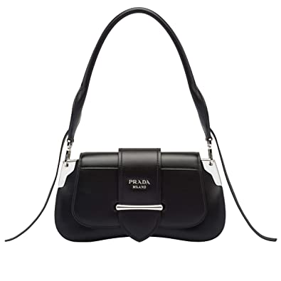 1ef6060300ef JB-Prada Sidonie leather shoulder bag (black): Handbags: Amazon.com