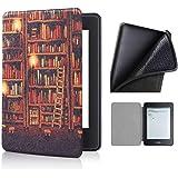 Capa Kindle Paperwhite 10ª geração à prova d'água - Função Liga/Desliga - Fechamento magnético - Silicone - Library