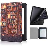 Capa Kindle 10ª geração com iluminação embutida – Auto Hibernação – Fecho Magnético – Silicone - Library