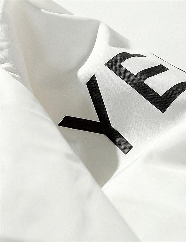 OYTRO Men Casual Hoodie Long Sleeve Letter Print Lightweight Anti-Sun Outerwear Fashion Hoodies