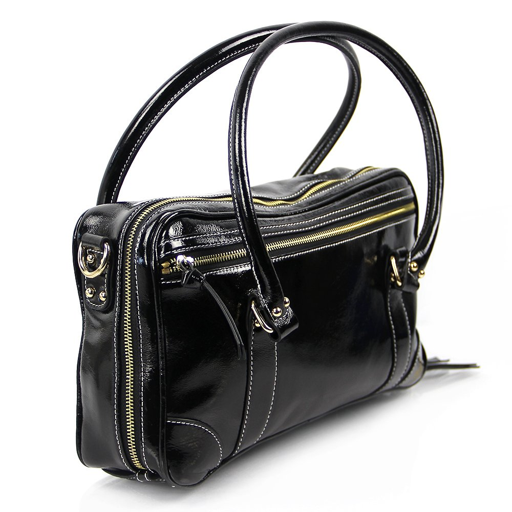 Fluterscooter Clarinet Bag: Black Patent Leather