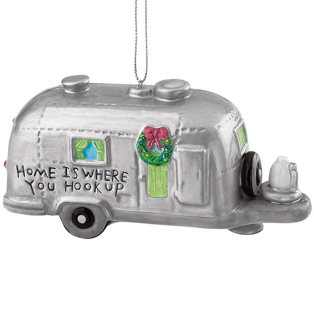 Rv ornament - Amazon Com Silver Rv Camper Trailer Camping Christmas Ornament Home Kitchen
