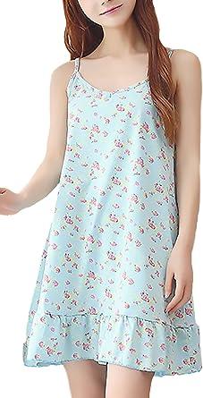 Pijama Mujer Elegante Clásico Especial Tirantes V Cuello Impresión ...