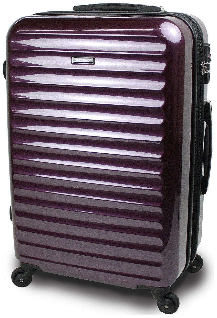 スーツケース 3サイズ( 大型  中型  小型 ) 超軽量 キャリーバッグ TSAロック 【 ヴィアーノ2020 ダブルファスナーモデル 】 鏡面ミラー加工 B071XD1PZJ 大型 Lサイズ 75cm 7~14泊用|ディープパープル ディープパープル 大型 Lサイズ 75cm 7~14泊用