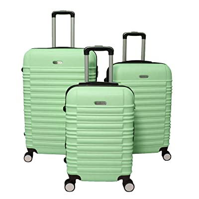 World Traveler California 3-Piece Spinner Luggage Set, Mint Green