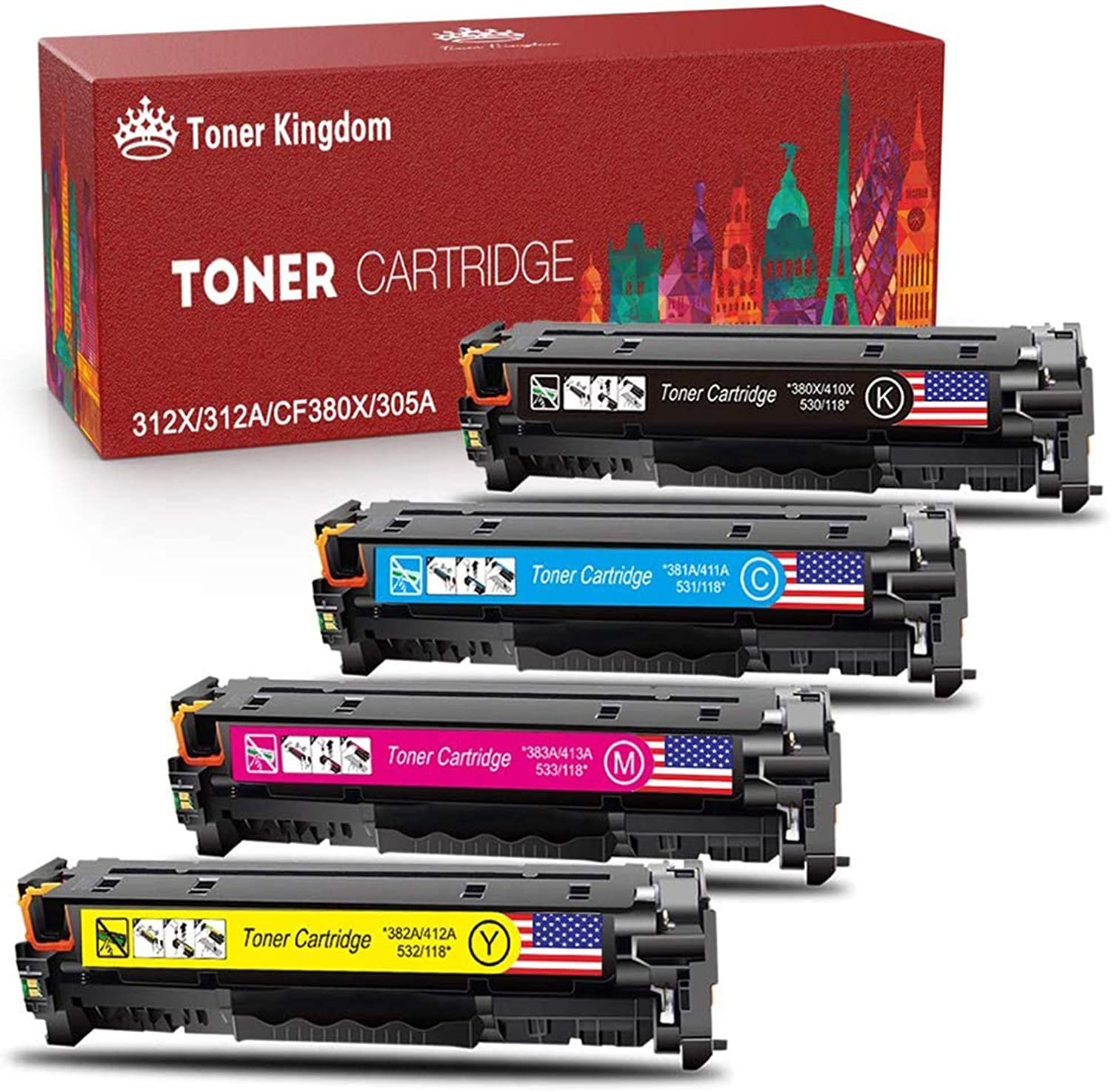 10x Eurotone Remanufactured Toner for HP Laserjet M 3027 3035 X xs MFP Replaces Q7551A 51A
