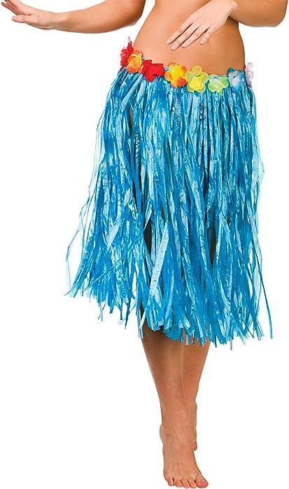 Women/'s Hawaiian Hula Skirt Natural Multi Colour Grass Garland Luau Fancy Dress
