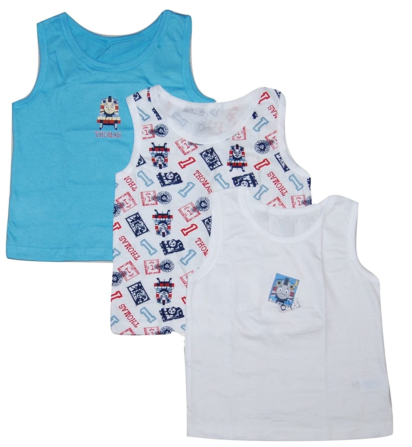 Boys 3 Pack Vest Tops Underwear Thomas The Tank Engine