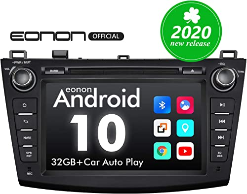 2020 Car Stereo, Double Din Car Stereo, Android Head Unit Eonon Android 10 Car Stereo Applicable to Mazda 3 Series Support Apple Carplay Android Auto Fast Boot DVR Backup Camera OBDII -8 Inch -GA9463