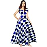 Silver Organisation Rayon Florence Women's Party Wear Designer Gown