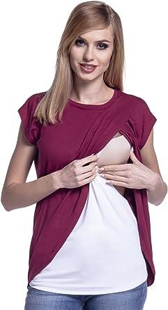 New Double Layer Drop Down Maternity Nursing Breastfeeding Top Sz 8 10 12 14 16