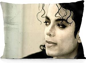 "DoubleUSA Michael Jackson Pillowcases Both Sides Print Zipper Pillow Covers 20""x30"""