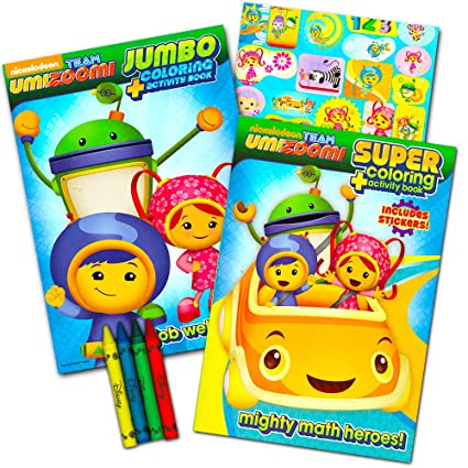 c1d51dbde Amazon.com: Team Umizoomi Coloring Book Super Set -- 2 Coloring and ...
