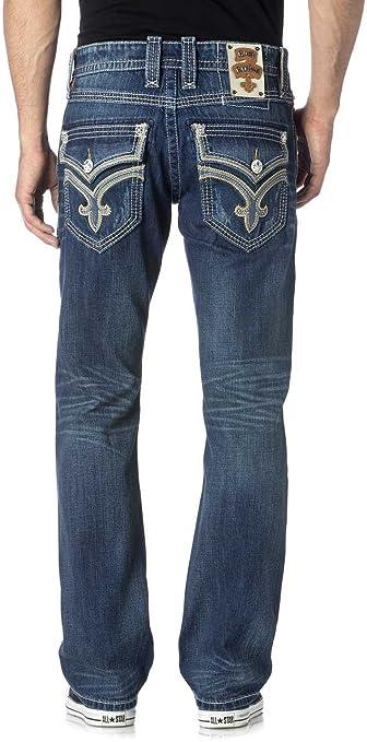 Rock Revival - Männer Frankie Gerade geschnittene Jeans, 42, J400 Denim:  Amazon.de: Bekleidung