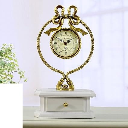 Relojes antiguos europeos reloj mudo grande Moderna sala de estilo reloj de latón reloj de aire