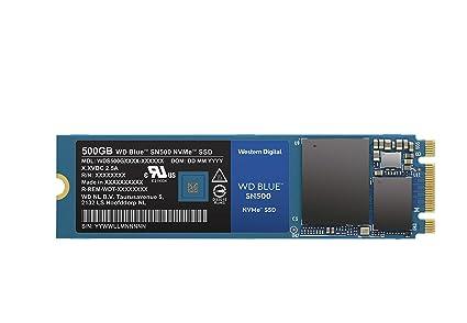 Western Digital WD Blue SN500 SSD NVMe, M.2, Velocidad de Lectura de hasta 1700 MB/s, 500 GB
