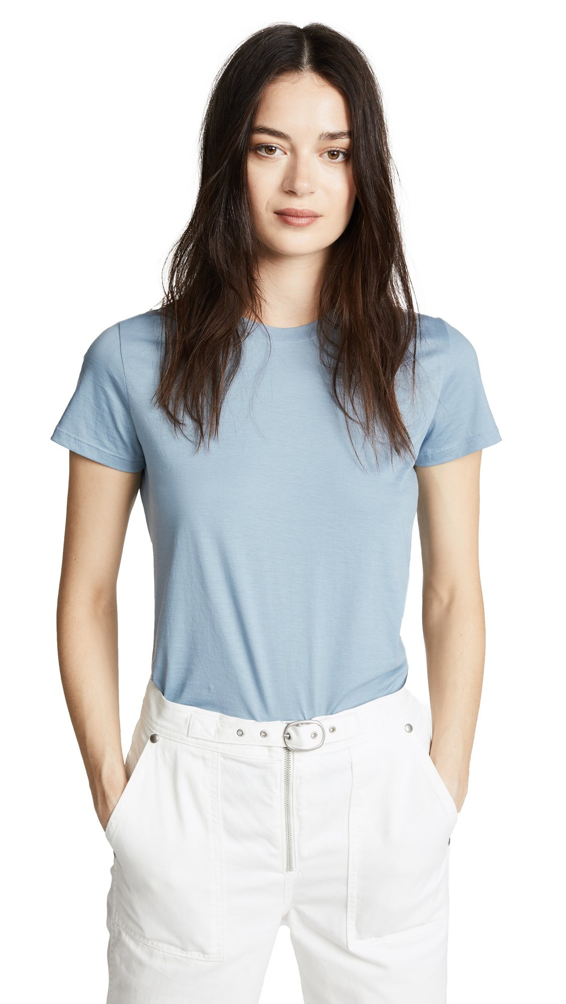 Vince Women's Essential Tee, Glass, X-Small