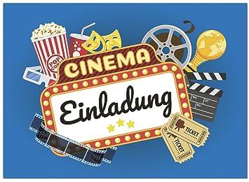 Außergewöhnlich 16 Einladungskarten Zum Kindergeburtstag   Kino Film   Für Kinder, Jungen,  Mädchen,Feier