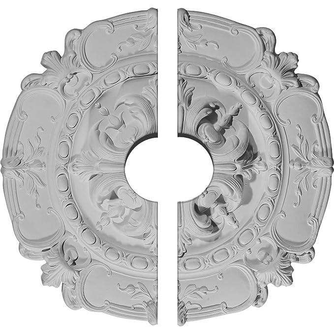 Two Piece Fits Canopies up to 4 1//4 Ekena Millwork CM14NE2-03500 14 5//8 OD x 3 1//2 ID x 2 P Needham Ceiling Medallion Fits Canopies up to 4 1//4 Factory Primed White Two Piece