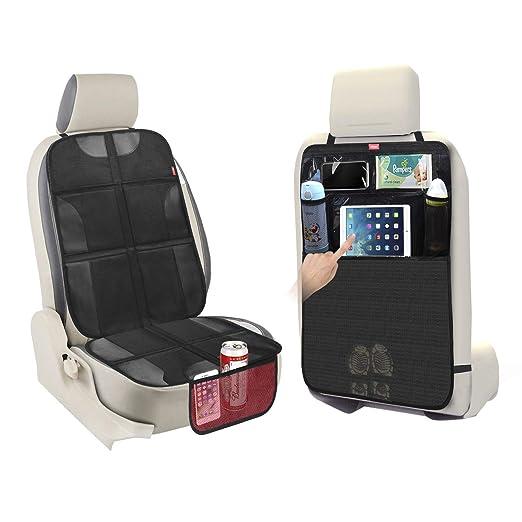 Amazon.com: Car Seat Protector + Kick Mat Car Seat Back ...