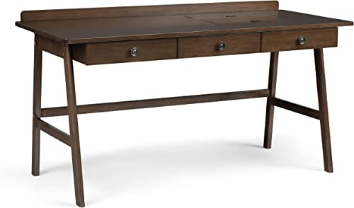 SIMPLIHOME Rylie Desk Solid Wood Contemporary